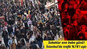 Cumartesi kısıtlaması kalktı Vatandaşlar sokağa akın etti... İstanbulda trafik kilit