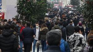 İstiklal Caddesinde yoğunluk