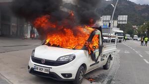 Kardeşine kızıp kamyoneti yaktı Gözaltına alındı