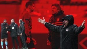 Beşiktaş-Gaziantep FK maçında kulübeler arasında gerginlik Düdük sonrası çılgına döndü