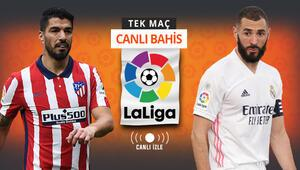 La Ligada dev derbi, Atletico-Real CANLI YAYINDA Öne çıkan iddaa tercihi...