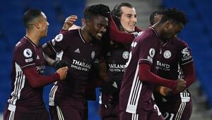 Leicester City, deplasmanda Brighton and Hove Albionu 2 golle geçti