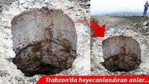 Trabzonda yol çalışmasında bulundu İnceleme başlatıldı..
