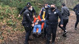 Belgrad Ormanında hareketli anlar Önce silah buldu, sonra kendisini vurdu