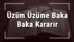 Üzüm Üzüme Baka Baka Kararır atasözünün anlamı ve örnek cümle içinde kullanımı (TDK)