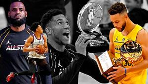 NBA All-Star 2021de tarihi rekor LeBron James, Stephen Curry ve Giannis Antetokounmpo...