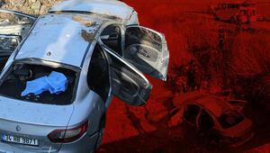 Minibüsle çarpışan otomobil dereye devrildi: 3 ölü, 2 yaralı
