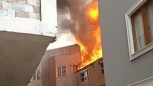 Eyüpsultanda yangın paniği Korku dolu anlar yaşandı