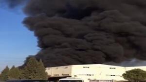 Son dakika... Denizli de tekstil fabrikasında yangın çıktı