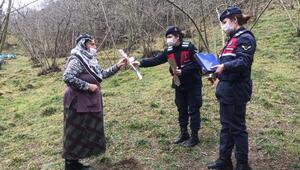Trabzonda jandarmadan kadınlar günü kutlaması
