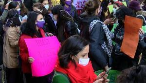 Beyoğlunda 8 Mart Dünya Kadınlar Günü Yürüyüşü