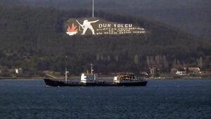 Rus donanmasına ait tanker 'IMAN', Çanakkale Boğazı'ndan geçti