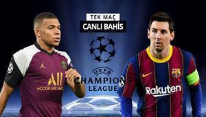 4-1in rövanşında Barcelonaya sürpriz iddaa oranı PSGde 2 kritik eksik...