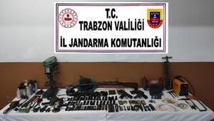 Düzköy'de kaçak silah atölyesi ortaya çıkarıldı