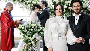 Yasemin Sakallıoğlu ve Burak Yırtar nikah masasına oturdu