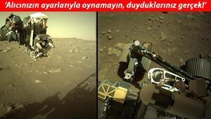 Perseverance uzay aracı Mars'ın seslerini yolladı