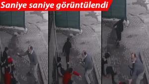 Küçükçekmecede çocuklara kemerli saldırı kamerada