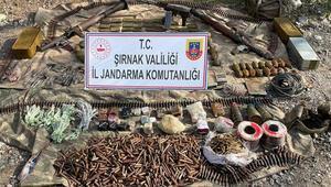 Şırnakta terör örgütü PKKya ait çok sayıda patlayıcı, silah ve mühimmat ele geçirildi