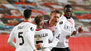 Milan, UEFA Avrupa Liginde avantajı Kjaer ile kaptı Manchester United...