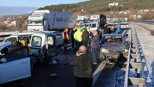 Anadolu Otoyolunda 9 aracın karıştığı zincirleme kaza