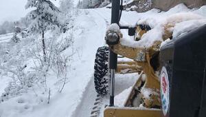 Trabzon ve Rize'de yoğun kar yağışı 108 yerleşim yerinin yolu kapandı