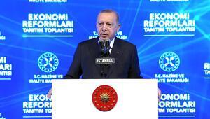 Cumhurbaşkanı Erdoğandan, Ekonomi Reformları Tanıtım Toplantısında açıklamalar