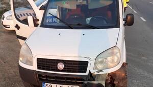 Keşan'da yoldan çıkan araçta 1 kişi yaralandı
