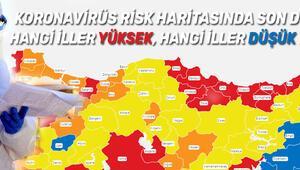 Koronavirüs 21 Mart Türkiye risk haritası son durum... Hangi iller düşük hangi iller yüksek riskli Corona virüs vaka tablosunda son veriler