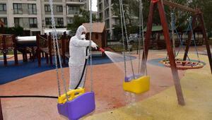 Tuzla'da bulunan 136 park çocuklar için dezenfekte edildi