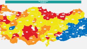 Erzurum, Erzincan ve Kars risk haritası Erzurum, Erzincan, Karsta hafta sonu sokağa çıkma yasağı var mı