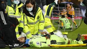 Wolverhampton - Liverpool maçında yürekler ağza geldi Rui Patricio baygınlık geçirdi...