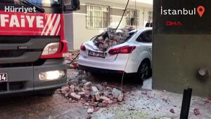 Beyoğlunda binanın çatı katında çökme meydana geldi