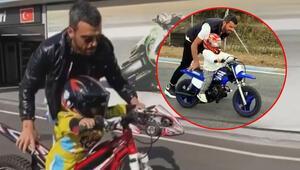 Kenan Sofuoğlu, oğlu Zaynın 2 yaşına girmeden motor kullanmasını eleştirenlere yanıt verdi