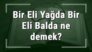 Bir Eli Yağda Bir Eli Balda ne demek Bir Eli Yağda Bir Eli Balda deyiminin anlamı ve örnek cümle içinde kullanımı (TDK)