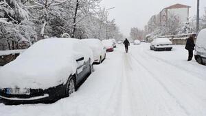 Erzuruma kışın yağmayan kar, baharda düştü