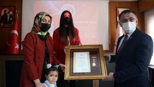 Tokatta gazi ve şehit yakınlarına Devlet Övünç Madalyası ve Beratı v erildi