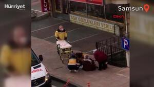 Hastaneye yetişemeyen hamile kadın kaldırımda doğum yaptı