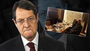 Rum lider Nikos Anastasiadise meyhane tepkisi: Hükümet sırlarını ifşa ediyor