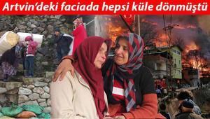Artvinde yanan köyde çadır kurdurmadılar, komşularına evlerini açtılar