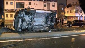 Kısıtlama saatinde babasından izinsiz aldığı otomobille kaza yaptı: 2 yaralı
