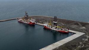 Fatih ve Kanuni sondaj gemileri, Filyos Limanında bir araya geldi