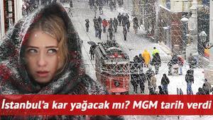 İstanbula kar yağacak mı Meteoroloji tarih vererek uyardı... İşte MGM 22 Mart hava durumu