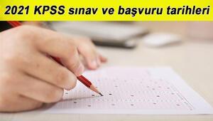 KPSS ne zaman yapılacak ÖSYM 2021 KPSS başvuru ve sınav tarihlerini yayınladı