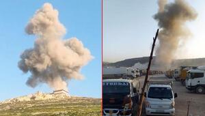 MSB: Esed rejimi TIR parkını hedef aldı