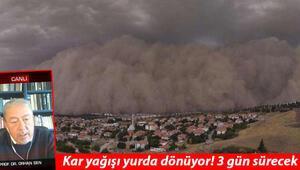 Çamurlu yağış Ankaradaki kum fırtınasını hatırlattı