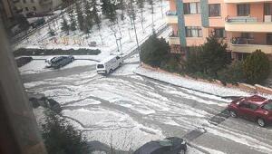 Ankarada dolu yağdı