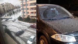 Son dakika... İstanbulda çamur, Ankarada dolu yağdı