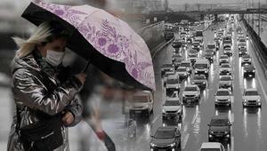 Son dakika... İstanbulda gök gürültülü sağanak yağış etkili oluyor Peş peşe uyarılar