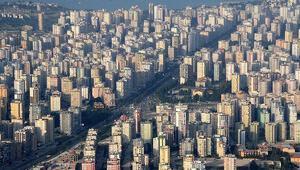 İstanbulda 20 yaşın üzerinde 3,1 milyon adet konut bulunuyor