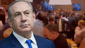 Netanyahunun bulunduğu restoranın yakınlarına füze düştü